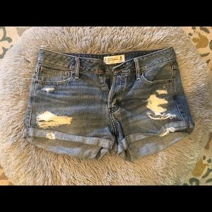 Abercrombie & Fitch Boyfriend LowRise Denim Shorts